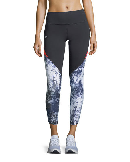 Under Armour Run True Printed Crop Performance Leggings