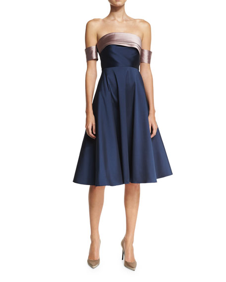 Sachin & Babi Ali Strapless Fit-and-Flare Cocktail Dress