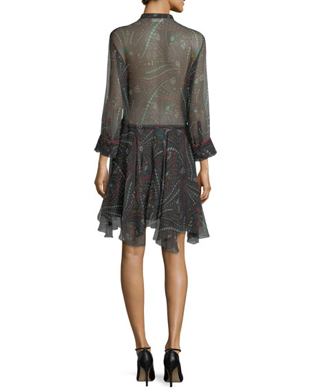 Ranil Semisheer Printed Chiffon Dress