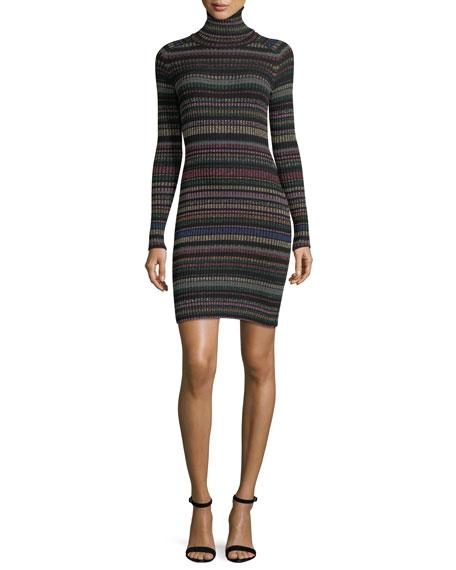 Milly Metallic Striped Sweater Dress