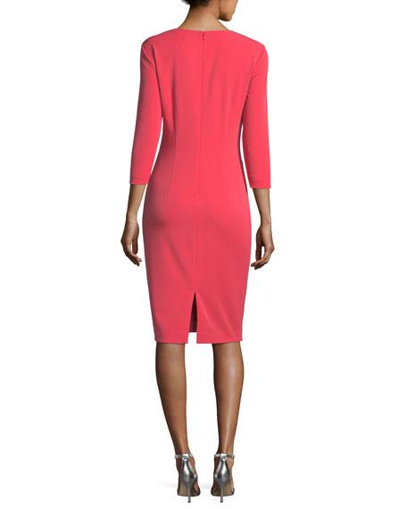 Jewel-Neck Stretch-Crepe Dress