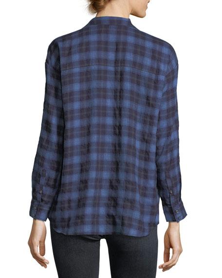 Moxy Plaid Cotton Wrap Shirt