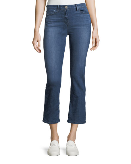 3x1 Midway Low-Rise Flared Cropped Jeans