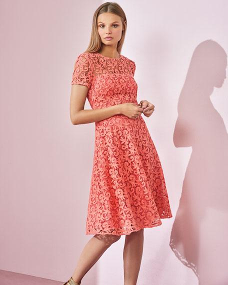 Paisley Guipure Lace Dress