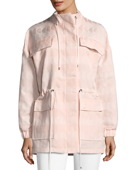Textured Jacquard Drawstring Jacket