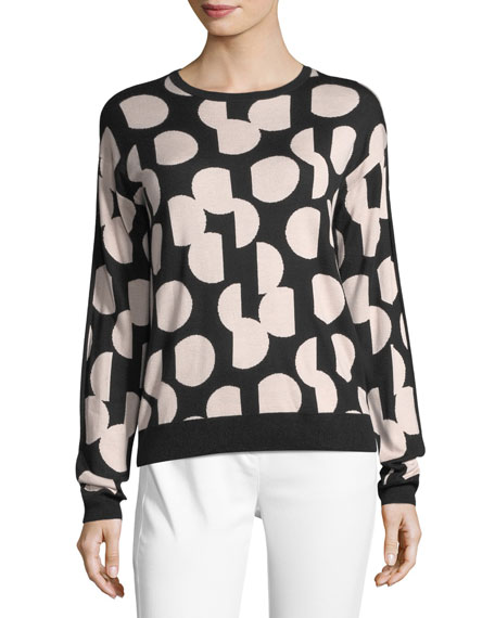 St. John Collection Dot Intarsia Sweater