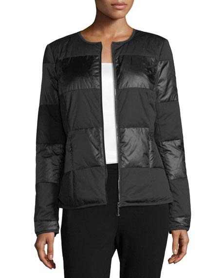 St. John Collection Matte Shiny Nylon Jacket