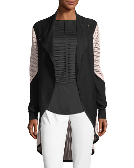 St. John Collection Double Mesh Knit Cardigan