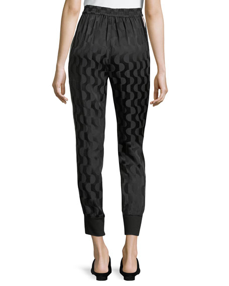 Geometric Charmeuse Pants