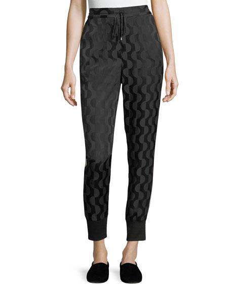 St. John Collection Geometric Charmeuse Pants