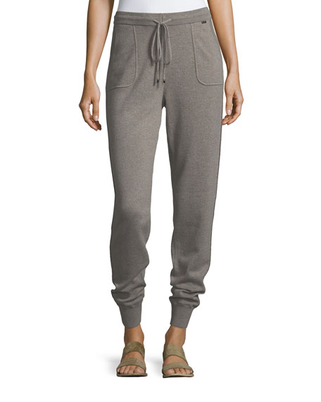 St. John Collection Cashmere Jersey Knit Pants
