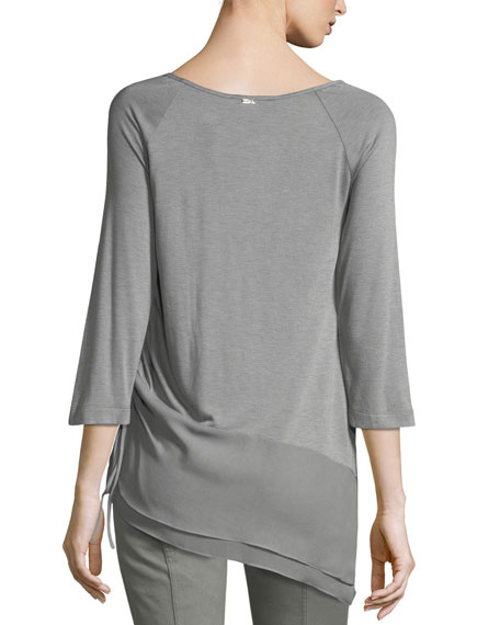 Sleek Jersey Asymmetric Blouse