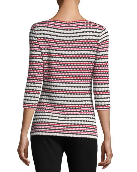 Multi-Wavy Jersey T-Shirt