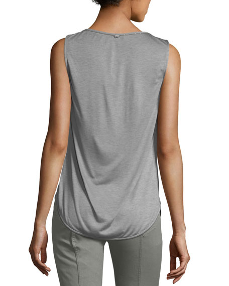 Silk Scoop-Neck Shell