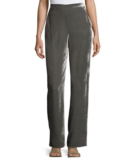 St. John Collection Velvet Wide-Leg Pants