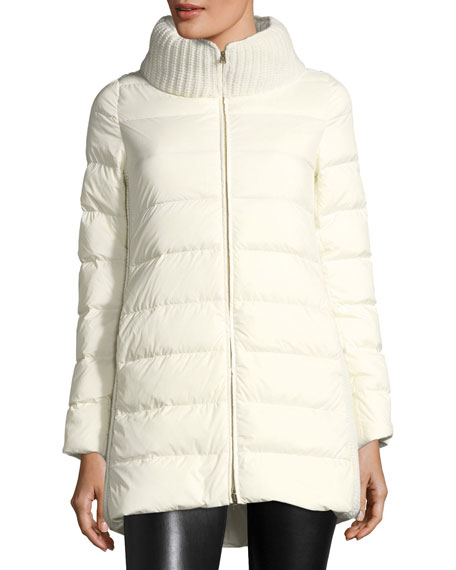 Herno Knit-Back Ribbed Down Puffer Jacket