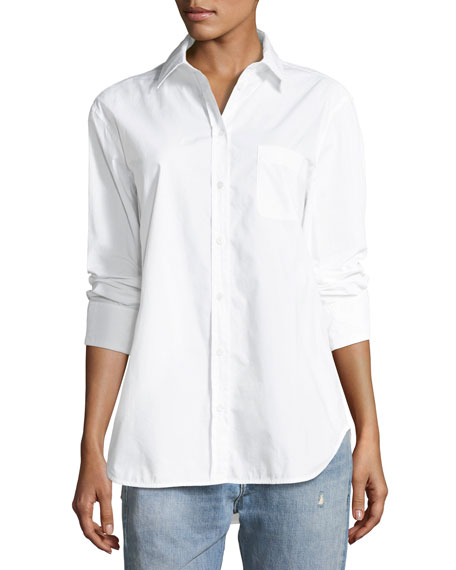 Equipment Kenton Button-Front Poplin Shirt