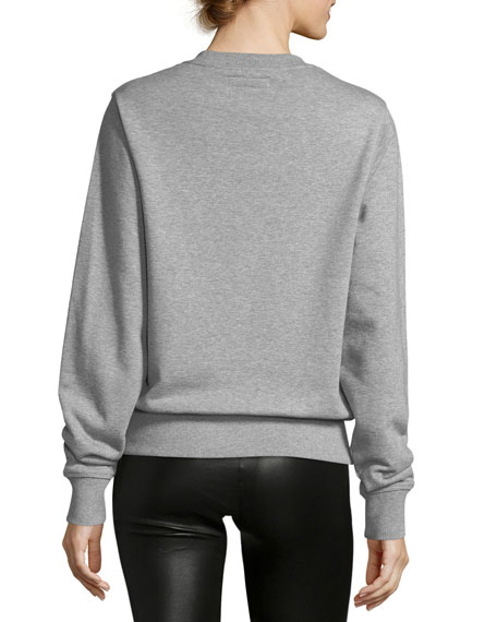 Munster Long-Sleeve Jewel-Neck Cotton Sweatshirt