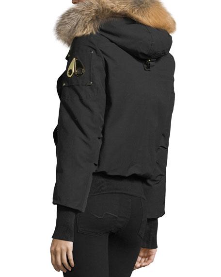 Gatineau Zip-Front Bomber Jacket w/ Fur Hood