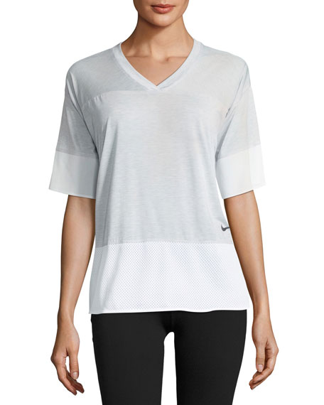 Nike Breathe V-Neck Short-Sleeve Training Top