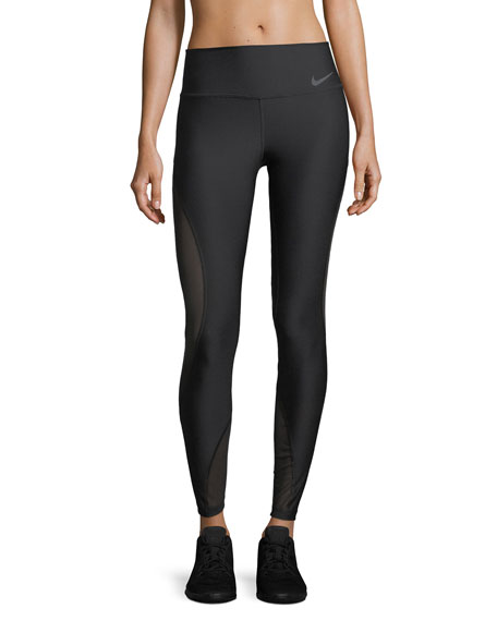 Power Full-Length Performance Tights w/ Mesh