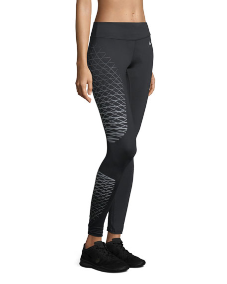 Power Wide-Band Printed Performance Tights