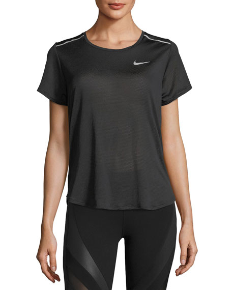 Nike Breathe Short-Sleeve Open-Back Running Top