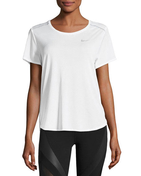Nike Breathe Short-Sleeve Open-Back Running Top