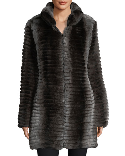 Reversible Layered Rabbit Fur Coat