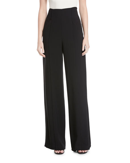 A.L.C. Marlo High-Waist Wide-Leg Crepe Pants and Matching