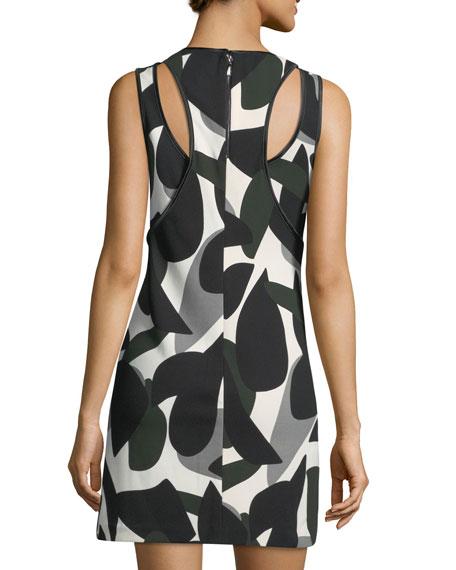 Sleeveless Printed Scuba Dress