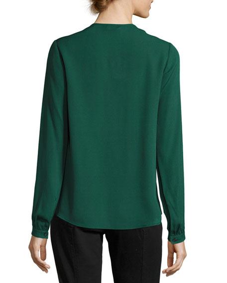 Kirk V-Neck Long-Sleeve Blouse