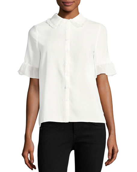 English Factory Ruffled Georgette Shirt