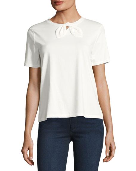 Bow-Detail Cotton T-Shirt