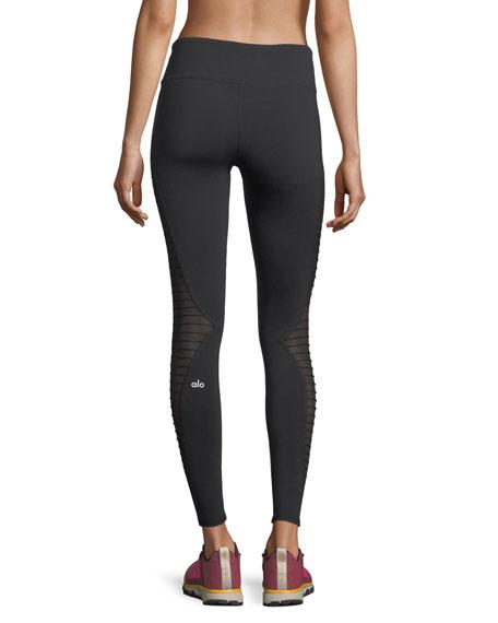 4c1b0d002c43f Alo Yoga Luminous Mesh Performance Leggings w/ Pintucking | Neiman Marcus