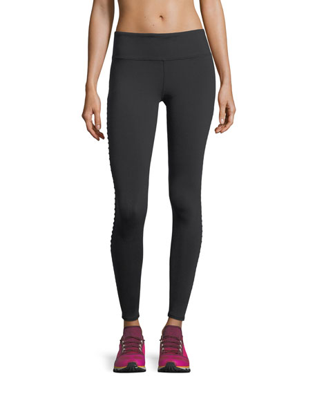 Alo Yoga Luminous Mesh Performance Leggings w/ Pintucking