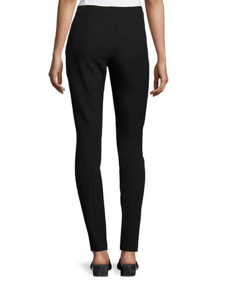 Eddine High-Waist Skinny Zip-Cuffs Pants