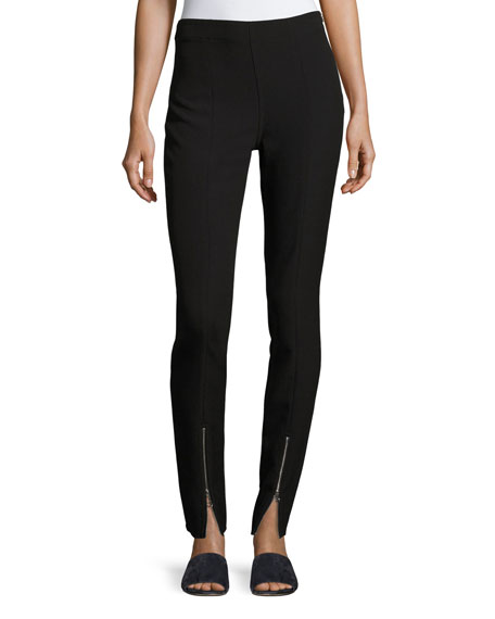 Elizabeth and James Eddine High-Waist Skinny Zip-Cuffs Pants