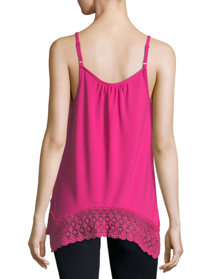 Lace-Trim Sleeveless Top