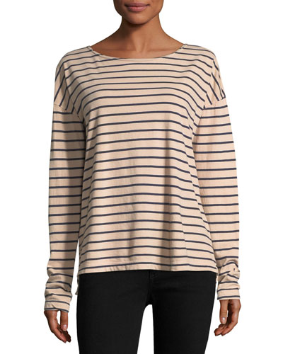 The Brenton Long-Sleeve Striped Tee