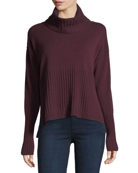 Derek Lam 10 Crosby Long-Sleeve Cashmere Turtleneck Sweater