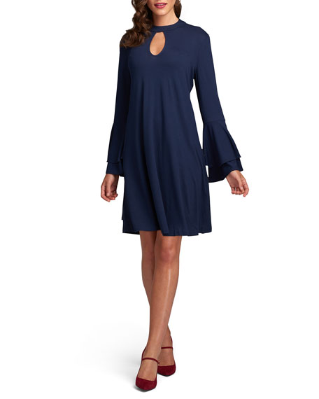 Label by 5Twelve Double-Bell-Sleeve A-Line Dress