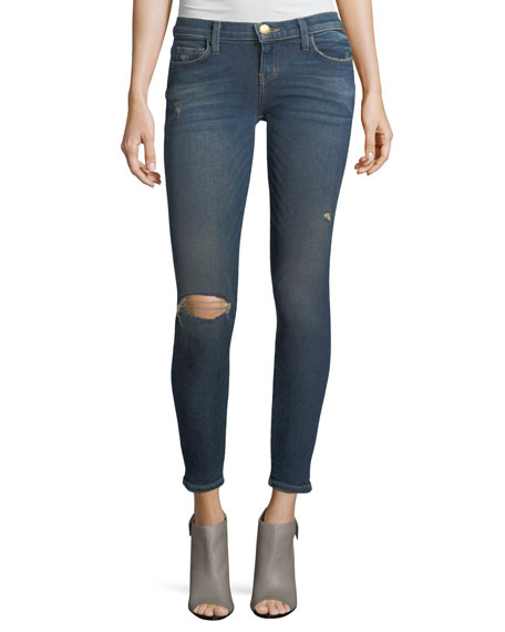 Current/Elliott The Stiletto Mid-Rise Skinny-Leg Jeans
