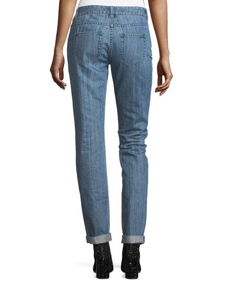 Dillon Jeweled Straight-Leg Jeans