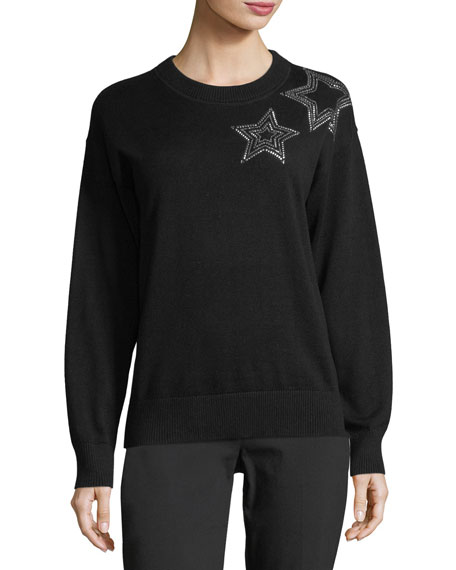 Star-Embellished Sweater