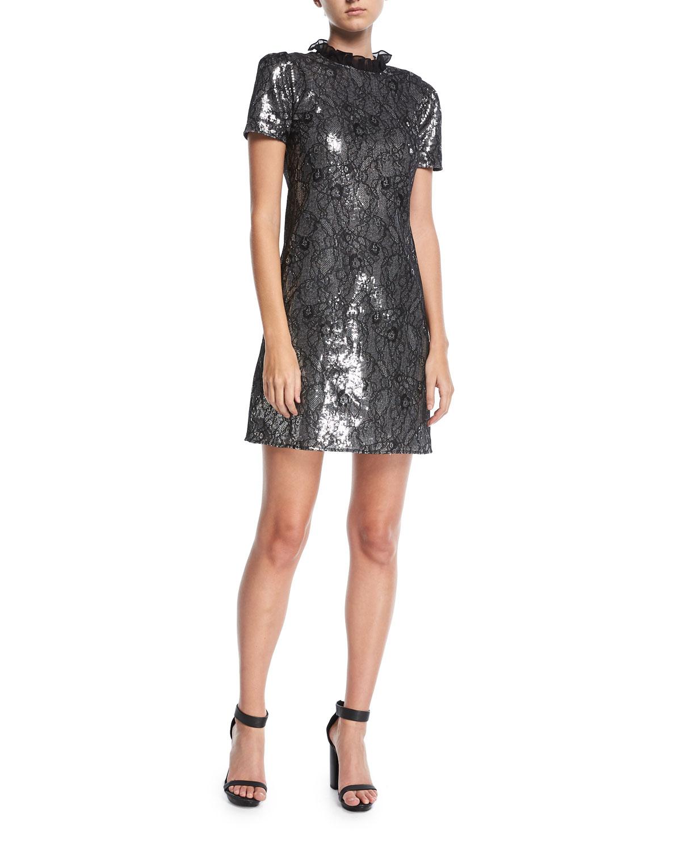 941b881fe18 MICHAEL Michael Kors Sequined Lace Cocktail Dress