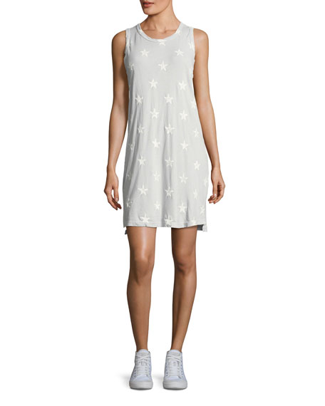 Current/Elliott The Muscle Tee Star-Print Dress