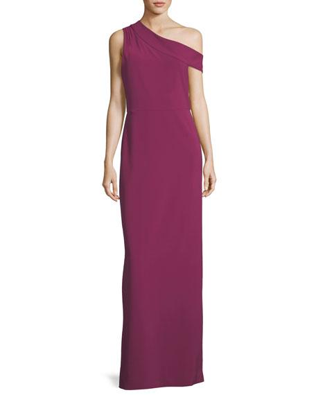 Parker Black Andrea One-Shoulder Column Evening Gown