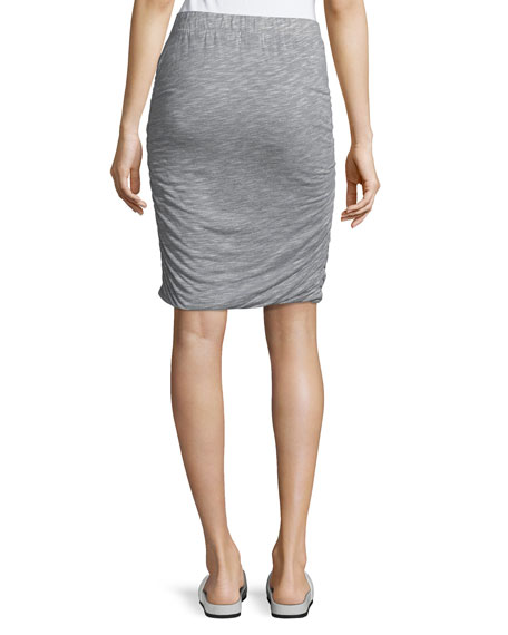 Ruched-Side Jersey Skirt