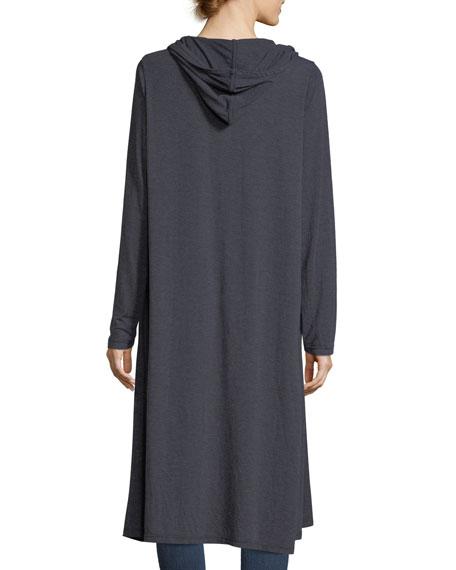 Hooded Pocket Long Cardigan